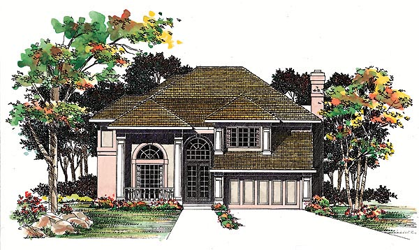 Traditional House Plan 95208 Elevation