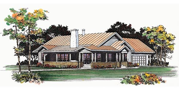 Ranch , Elevation of Plan 95209