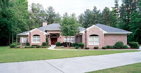 Traditional House Plan 95210 with 3 Beds, 4 Baths, 2 Car Garage Elevation