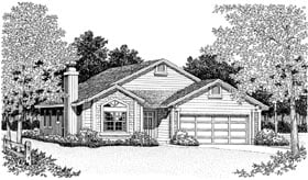 Ranch House Plan 95211 Elevation