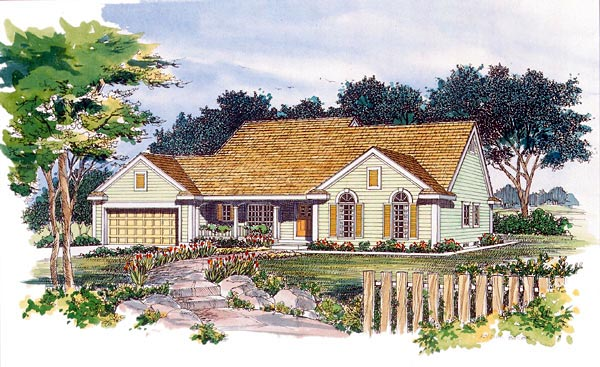 Ranch House Plan 95213 Elevation