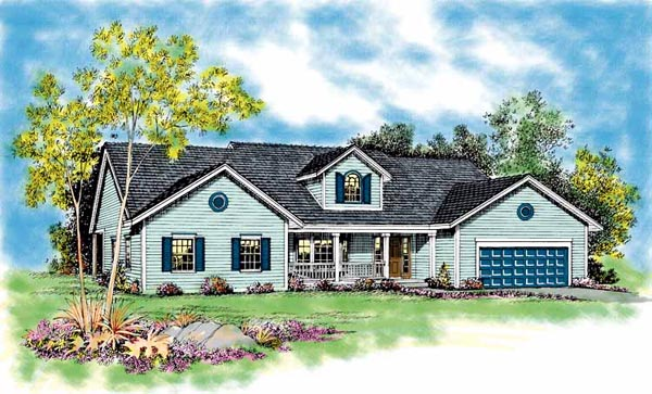 Ranch House Plan 95214 Elevation