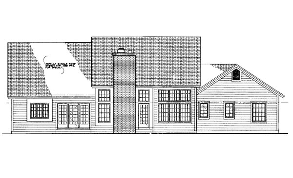 Ranch House Plan 95214 Rear Elevation