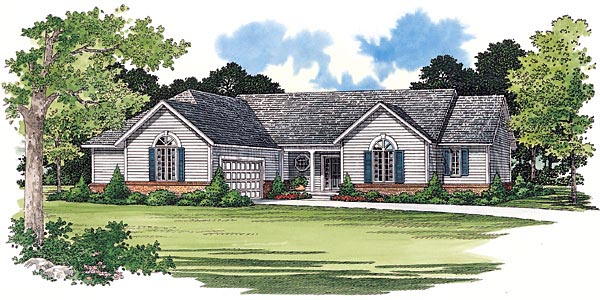 Ranch House Plan 95215 Elevation