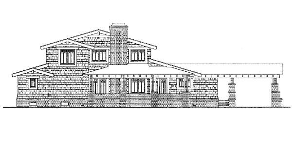Craftsman House Plan 95216 Rear Elevation