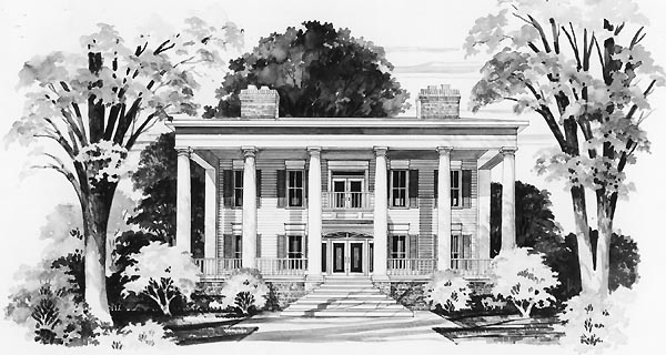 Colonial House Plan 95217 Elevation