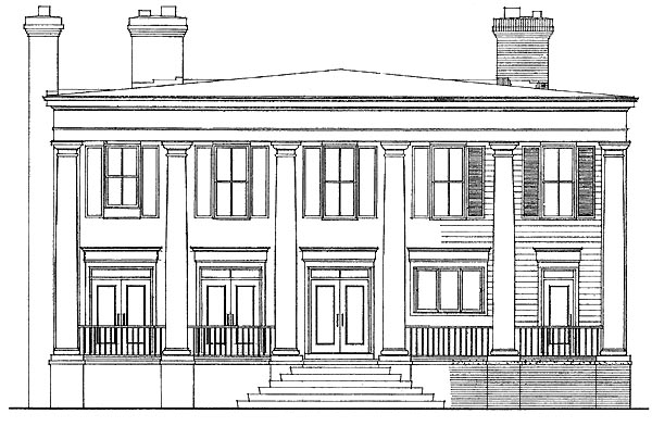 Colonial House Plan 95217 Rear Elevation