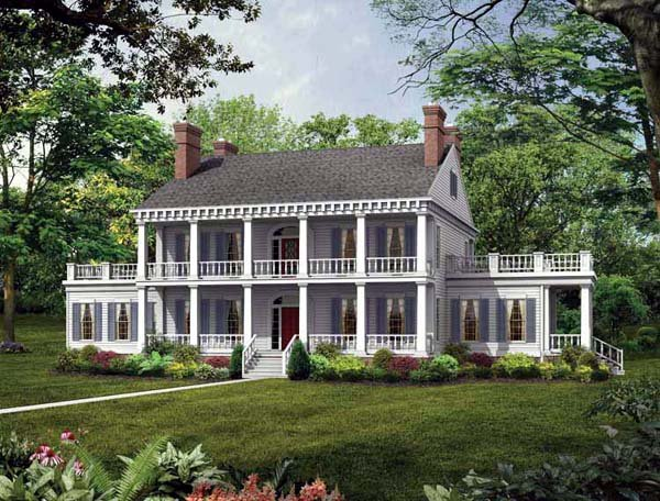 Colonial Southern House Plan 95218 Elevation