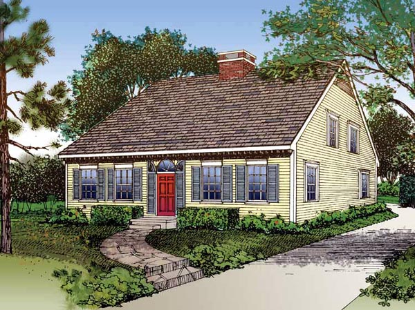 House Plan 95220 | Traditional Style Plan with 1646 Sq Ft, 3 Bedrooms, 3 Bathrooms Elevation
