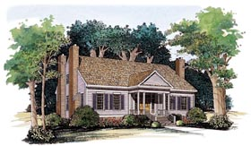 Colonial House Plan 95221 Elevation