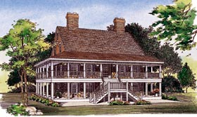Country Southern House Plan 95222 Elevation
