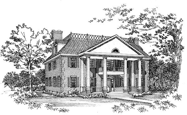 Colonial House Plan 95225 Elevation