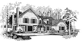 Country House Plan 95227 Elevation