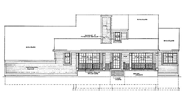Country House Plan 95231 Rear Elevation