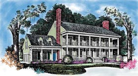 Colonial Southern House Plan 95232 Elevation