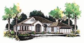 Traditional House Plan 95234 with 3 Beds, 3 Baths, 2 Car Garage Elevation