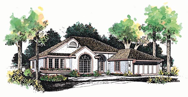 Traditional House Plan 95234 Elevation
