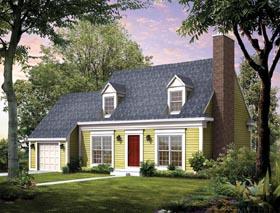 Cape Cod House Plan 95235 with 3 Beds, 3 Baths, 2 Car Garage Elevation