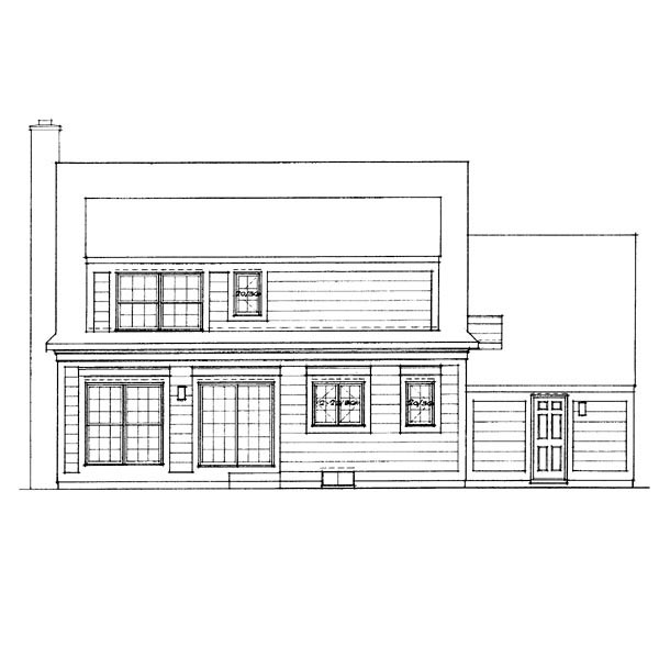 Cape Cod House Plan 95235 Rear Elevation