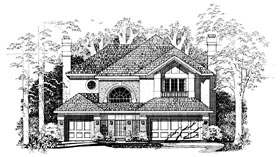 Mediterranean House Plan 95237 with 4 Beds, 4 Baths, 3 Car Garage Elevation