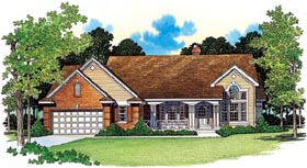 Country House Plan 95238 with 3 Beds, 3 Baths, 2 Car Garage Elevation