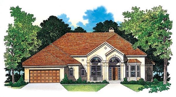 Mediterranean House Plan 95239 Elevation