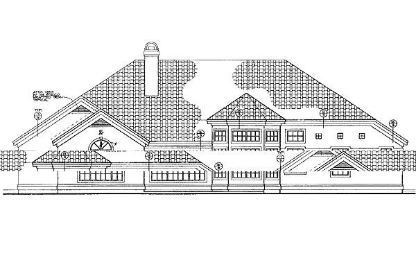 Mediterranean House Plan 95239 Rear Elevation