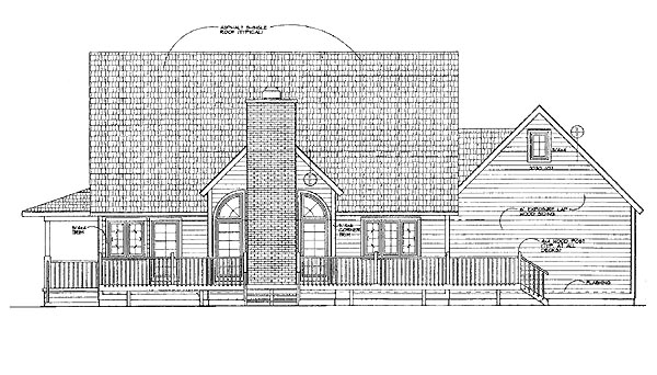 Country Farmhouse House Plan 95240 Rear Elevation