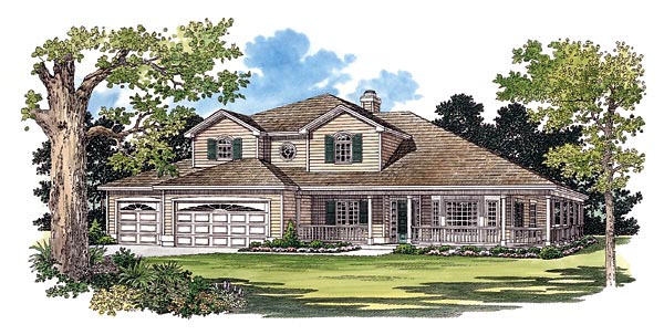 Country House Plan 95242 Elevation