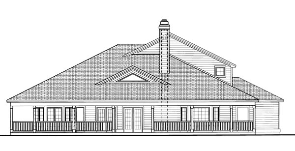 Country House Plan 95242 Rear Elevation