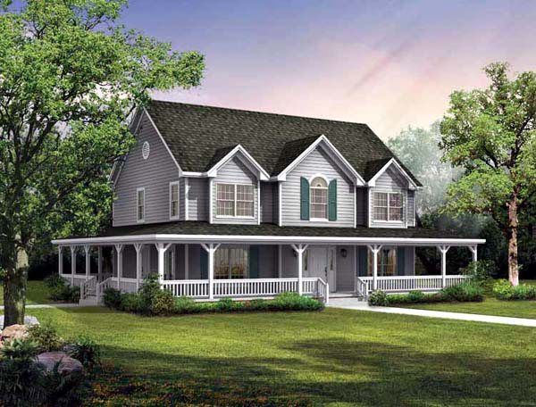 Country House Plan 95243 Elevation
