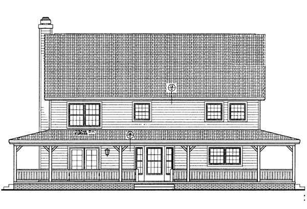 Country House Plan 95243 Rear Elevation