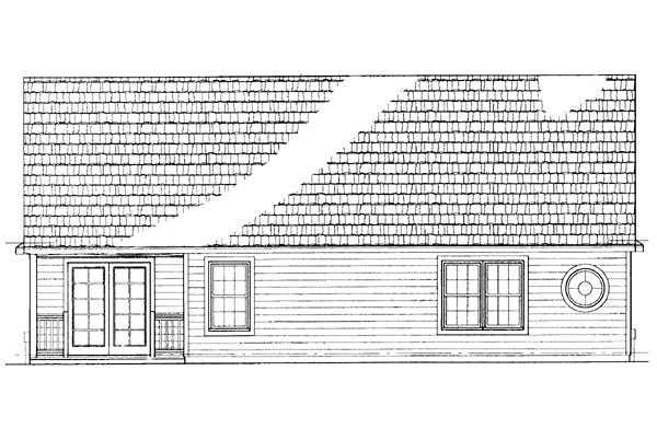 Traditional Rear Elevation of Plan 95245
