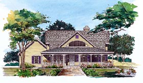 House Plan 95248 | Country Style Plan with 2170 Sq Ft, 3 Bedrooms, 3 Bathrooms, 2 Car Garage Elevation