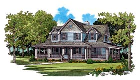 Country Farmhouse House Plan 95249 Elevation