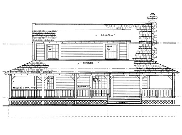 Country House Plan 95250 Rear Elevation