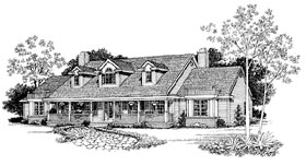House Plan 95251 | Country Style Plan with 3112 Sq Ft, 3 Bedrooms, 3 Bathrooms, 2 Car Garage Elevation