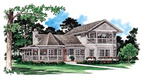 Victorian , Farmhouse , Country House Plan 95253 with 3 Beds, 3 Baths Elevation