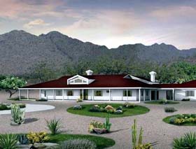 Ranch House Plan 95254 Elevation