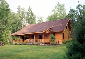 Cabin Ranch House Plan 95255 Elevation