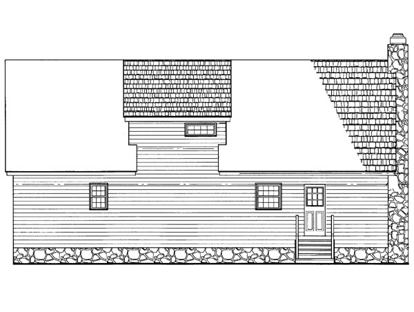 Cabin Ranch House Plan 95255 Rear Elevation