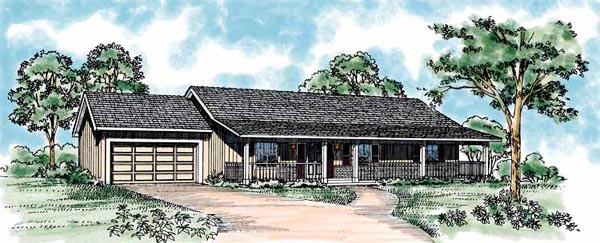 Ranch House Plan 95256 Elevation