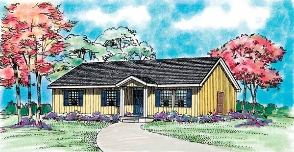 Ranch House Plan 95257 Elevation