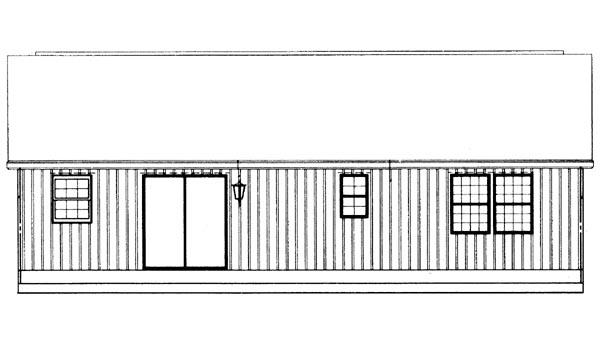 Ranch House Plan 95257 Rear Elevation