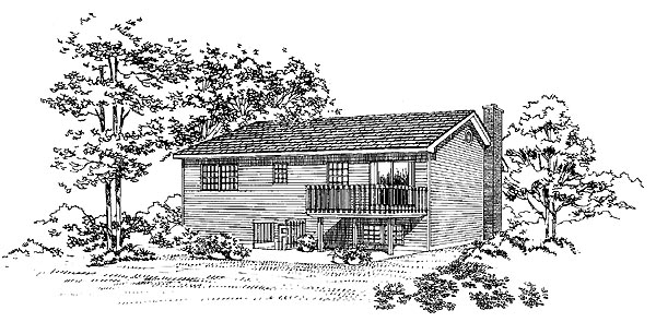 Contemporary House Plan 95259 Rear Elevation
