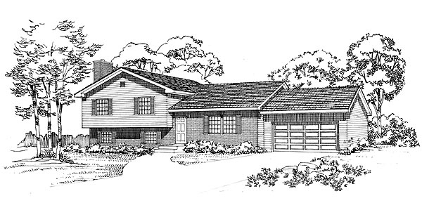 Ranch House Plan 95260 Elevation