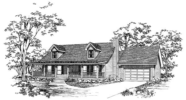 Country House Plan 95261 Elevation