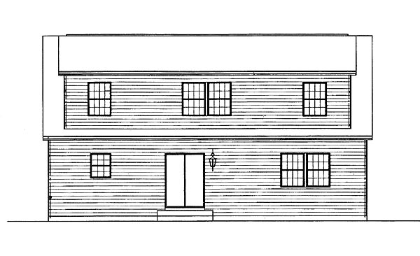 Country House Plan 95261 Rear Elevation