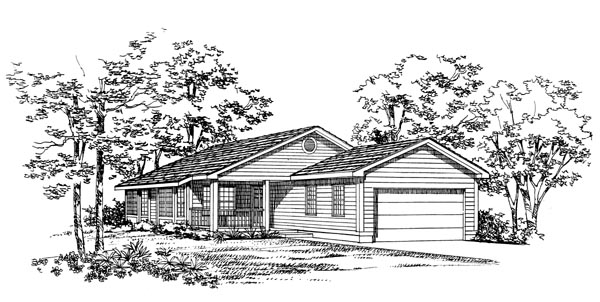 Ranch House Plan 95262 Elevation
