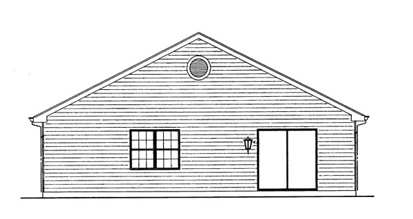 Ranch House Plan 95262 Rear Elevation